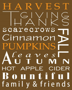 Another pretty Fall Subway Art Printable!