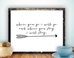 Scripture Printable, Bible verse in spirational quote arrow print wall ...