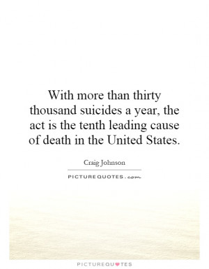 Death Quotes Suicide Quotes Craig Johnson Quotes