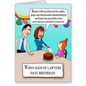 Happy Birthday - Legally Speaking Greeting Card