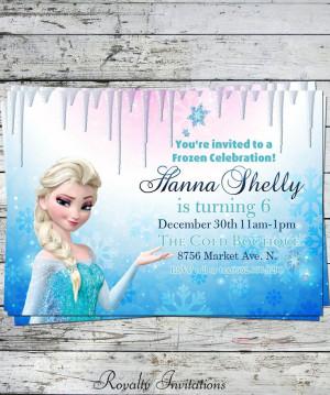 Disney Frozen Birthday Party Invitation Kids by RoyaltyInvitations, $5