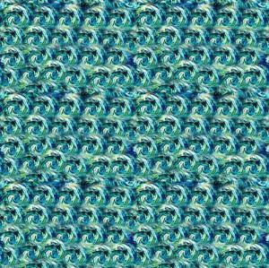 Van Gogh Starry Night Swirls {Smaller Coordinating Pattern} fabric by ...