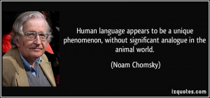 Noam Chomsky Quotes About Language