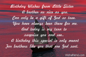Birthday Wishes from Little Sister