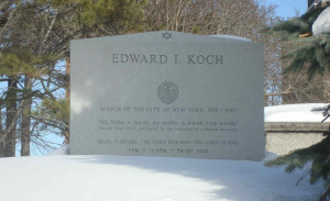 Ed Koch's grave marker is inscribed with journalist Daniel Pearl's ...