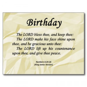 Happy Birthday Wishes Bible Verses