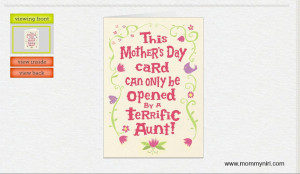 Mothers Day Card Aunt