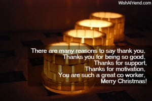 There are many reasons to say thank you,