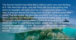Top Quotes About Secret Gardens