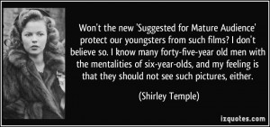 Won't the new 'Suggested for Mature Audience' protect our youngsters ...