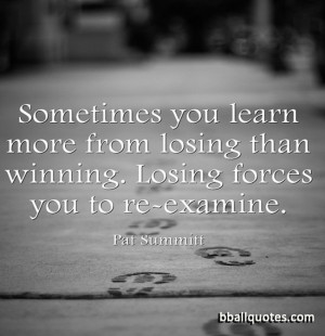 ... losing than winning. Losing forces you to re-examine. » Open Image