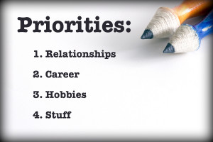 ... goals. Then to use those goals and priorities to schedule their lives