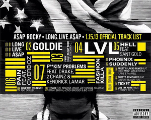 Hit the break for the full tracklist and expect Long.Live.A$AP out ...