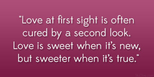 Love At Second Sight Quotes
