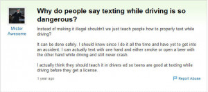 Texting While Driving Quotes Texting while driving fail