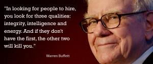 Warren Buffett speaks on integrity