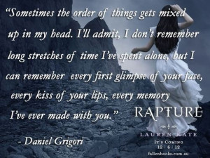 Daniel Grigori, Rapture (Fallen Series by Lauren Kate)