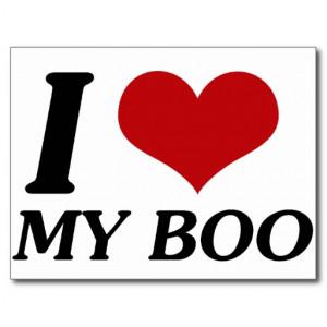 Love Boo Heart Postcards