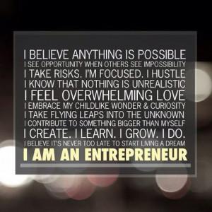 am an entrepreneur