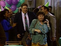 ... when his birthday party collides with Roseanne's