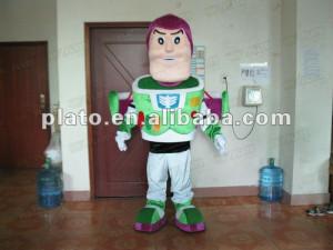 Buzz Lightyear spaceman mascot costume