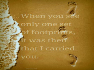 Footprints Quotes Footprints. footprints