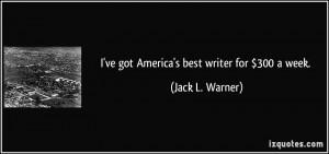 More Jack L. Warner Quotes