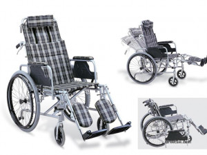 high back manual reclining backrest and raising footplates wheelchair ...