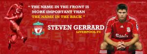Steven Gerrard facebook cover photos,liverpool fc football player