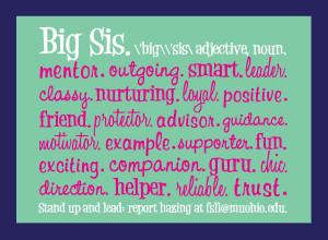 Big Sister Informational Postcard