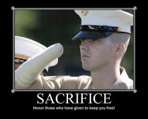 Military sacrifice