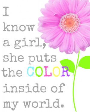 my little girls color my world