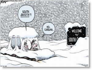 Cold Ice Global Warming Political Cartoon Son Scam