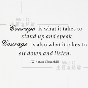 Inspirational English Courage Quotes wall sticker coffee bar classroom ...