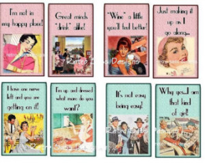 ... ladies with attitude and sass y sayings large TAGS set of 8 3x4ish