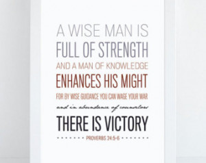 ... Print - Bible Verse Typography - Psalm Art - Bible Verse for Men
