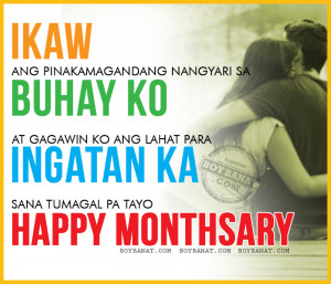 Tagalog Happy Monthsary Quotes and Pinoy Monthsary Sayings