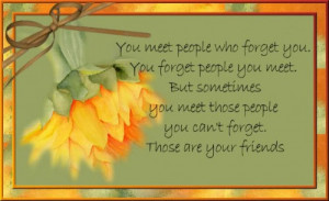 Friend – People You Don't Forget