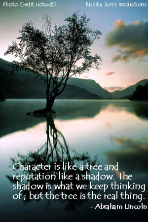 Quotes on Character is like a tree - Inspirational Quotes, Thoughts an ...