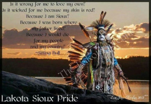 Lakota sioux pride