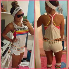 the color run more color run outfit white shorts outfit ideas the ...