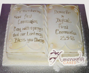 bible wedding cake