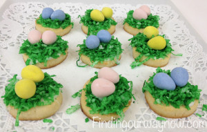 Birds Nest And Flower Easter Cookies Recipe