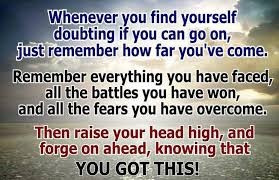 Whenever you find yourself doubting...