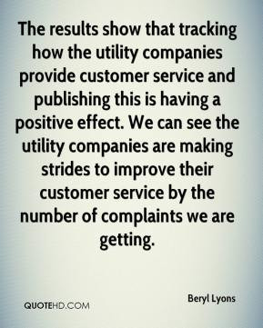 show that tracking how the utility companies provide customer service ...
