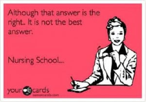 55. Nursing school problems…