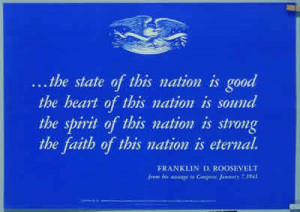 Patriotic Poster from World War II with U.S great seal & quote from ...