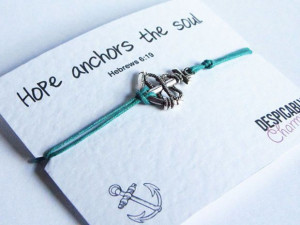 ... Anchor Charm - Featuring the biblical quote Hebrews 6:19 - Party