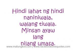 Best Tagalog Quotes – Mga Patama Love Quotes Ayaw umasa