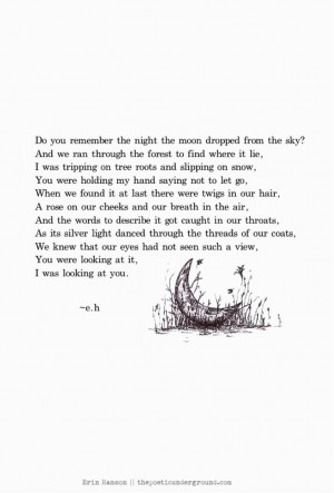 quotes beautiful poetry quotes moon poem quotes erin hanson moon poem ...